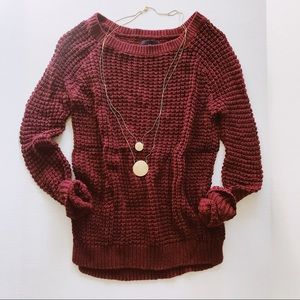 American Eagle Outfitters Maroon Sweater